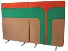 Mid Century Modern Wall Room Screen Divider Panels