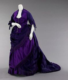 Afternoon dress 1872 | Flickr - Photo Sharing! okay, a little early. I need to make one board just for Worth gowns, because they seem to be what I prefer!
