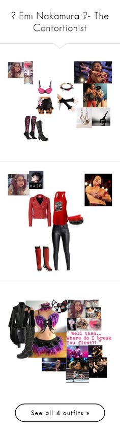 """""""😛 Emi Nakamura 😛- The Contortionist"""" by iron-maiden-amy ❤ liked on Polyvore featuring UNIF, Poizen Industries, WWE, wweoc, wweattire, wweocattire, IRO, Hot Topic, Kiki de Montparnasse and Wild Diva"""