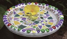 how to make mosaic yard art from fine gardening . Mosaic Birdbath, Mosaic Garden Art, Mosaic Pots, Mosaic Birds, Mosaic Glass, Stained Glass, Pebble Mosaic, Glass Art, Mosaic Crafts