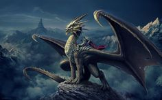 Dragon Rider by Nick Deligaris [1920  1200]