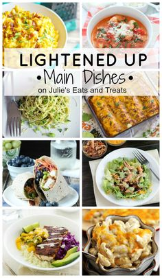 Over 60 lightened up main dishes to start the year on the right track! Everything from alfredo pasta to quinoa crusted chicken!