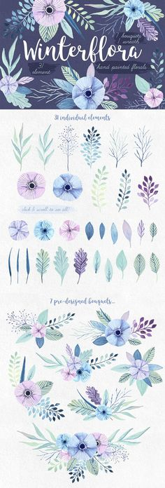 Winterflora Printables - The Inspiring Artistic Design Collection