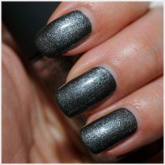 MAC Grey Friday Nail Lacquer Fall Nail Polish, Nail Art Designs, Swatch, Hair Makeup, Mac, Friday, Charcoal Black, Nails, Grey