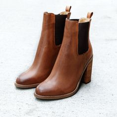 An update on the timeless chelsea boot, the heightened design of this ankle boot is both sleek and flattering. Look effortlessly sophisticated with a winter knit and a pair of denim jeans. Shop 'Reggie' by Tony Bianco online at Styletread | Chelsea Boots | Tan | Leather | Boots | Ankle Boots | Stunning | Style