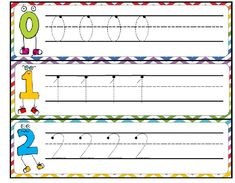Students can practice number formation with these cute tracing cards. Use an individual cards or put together to make a flip book. UPDATE: Now with numbers to 20 Preschool Math, Kindergarten Teachers, Math Activities, Number Writing Practice, Number Tracing, Number Recognition, Flip Books, Math Numbers, Writing Numbers