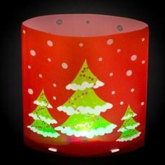 Exciting Christmas tree colour changing lantern - Snowflake and Santa design also available. 14 x15 cm.