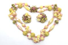 Alice Caviness Summer Jewelry Set  Double Strand by PerlinJewelry