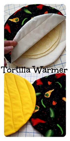 our kids Tortilla Warmer Tutorial. Just in time for Cinco de Mayo I've created this Tortilla Warmer Tutorial. Simply slide your tortillas inside then pop in the microwave for about 30 seconds. Your tortillas will come out nice and warmed! *this post. Sewing Hacks, Sewing Tutorials, Sewing Crafts, Sewing Tips, Tutorial Sewing, Sewing Ideas, Sewing Basics, Diy Gifts Sewing, Diy Couture