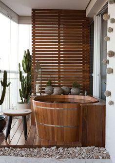 Referência de decoração varanda (espaço para meditar, relaxar e espaço verde). PREFERIDO CLEBER