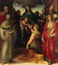 Mariage mystique de Sainte Catherine, 1521 - Domenico Beccafumi
