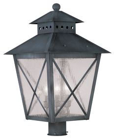 Livex Lighting 2678-61 Montgomery Post Mount Charcoal