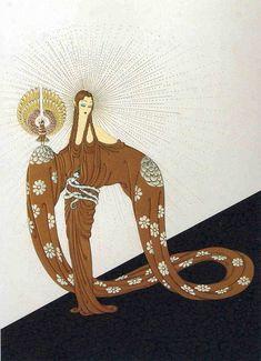 Vertus Célestes (2) de Erté (Romain De Tirtoff) (1892-1990, Russia)