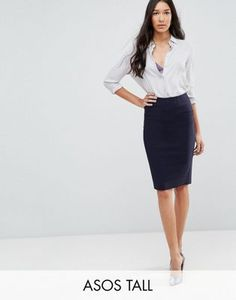 Shop the latest ASOS DESIGN Tall high waisted pencil skirt trends with ASOS! Free delivery and returns (Ts&Cs apply), order today! High Waisted Pencil Skirt, Beautiful Outfits, Beautiful Clothes, Office Wear, Skirt Fashion, Hemline, Work Wear, Fashion Online, Asos