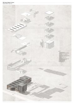 Interesting Find A Career In Architecture Ideas. Admirable Find A Career In Architecture Ideas. Architecture Panel, Architecture Graphics, Architecture Portfolio, Architecture Drawings, Architecture Design, Architecture Illustrations, Architecture Diagrams, Axonometric View, Axonometric Drawing