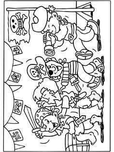 kleurplaat: piratenfeestje