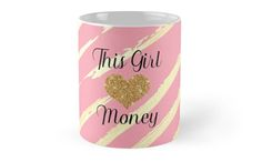 This Girl (loves) Money on Pink and Gold Zebra by kenique