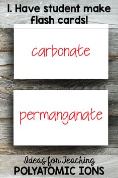 Tips for Teaching Polyatomic Ions - Science and Math with Mrs. Chemistry Help, Chemistry Classroom, Chemistry Notes, Polyatomic Ion, Make Flash Cards, Teacher Salary, Things To Think About, Things To Come, How To Memorize Things