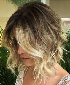 Bronde Balayage Bob Thin Hair