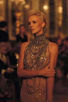 gold - Charlize Theron in Dior ad