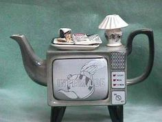Retro TV Set Teapot.