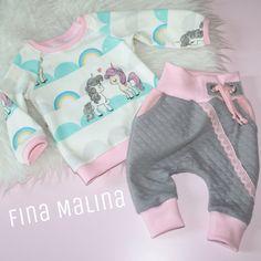 Baby Set nähen für Anfänger, ein einfaches Shirt und Pumphose mit Taschen...fertig! Und so einzigartig