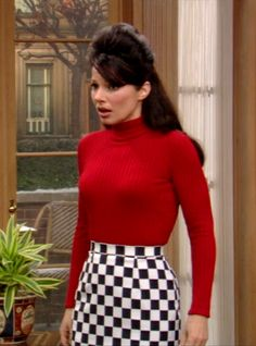 Fran Drescher's 90s Style Turtleneck, Skirt Combo As Seen on The Nanny // More Style Inspiration Ideas To Steal from The Nanny: (http://www.racked.com/2015/10/22/9586048/the-nanny-fran-drescher-style)