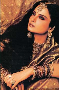 Colors, jewels Rekha, who can be arguably termed India's Greta Garbo, continues to be Bollywood's ever-graceful style diva and still sets many a heart aflutter