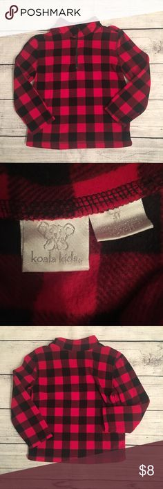 Koala Black and red 1/4 zip fleece pullover Koala Kids Shirts & Tops Sweatshirts & Hoodies