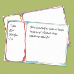 free online recipe cards