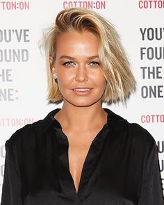 The 10 best bobs in the business Long Bob Blonde, Blonde Hair, Stacked Bob Hairstyles, Straight Hairstyles, Lara Bingle, Langer Bob Blond, Short Hair Cuts, Short Hair Styles, Best Bobs