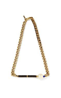 Pearl-Embellished Chain Necklace by Vanities - Moda Operandi