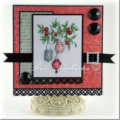 Cards made using Lili of the Valley folk stamps
