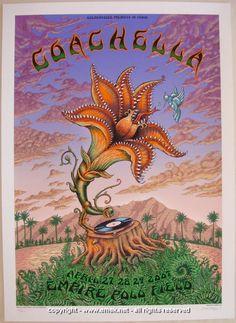 2007 Coachella Festival - Silkscreen Concert Poster by Emek