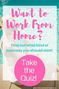 Find out what kind of work at home business you should start with this fun quiz! You can even sign up for a free resource guide customized for your result! #workfromhome #makemoney