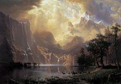 Along the Sierra Nevada - Albert Bierstadt, 1867-1868