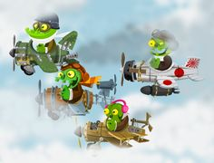 zombie planes / Art Game