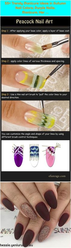 Trendy Manicure Ideas in Autumn Nail Colors; Nail Manicure, Gel Nails, Autumn Nails, Purple Nails, Used Iphone, Post, Trendy Nails, Gel Polish, Nail Colors