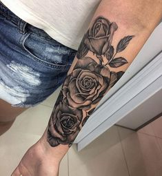 tattoos for girls tattoos, cute tattoos и f Forarm Tattoos, Dope Tattoos, Body Art Tattoos, Girl Tattoos, Rose Tattoos For Women, Sleeve Tattoos For Women, Black People Tattoos, Rose Vine Tattoos, Tattoos For Daughters