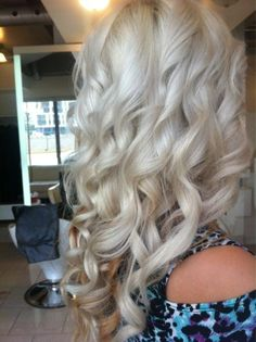 light blonde curly hair
