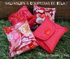 Salvaslips y compresa de tela