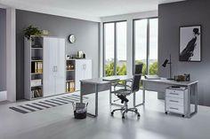 Set 1 Sandeiche//Weiß Büro Möbel Arbeitszimmer komplett Set OFFICE EDITION