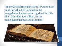 ULAMAK-ULAMAK 'AMILIN: IMAM QATADAH Kitab, Quran, Money Clip, Money Clips, Holy Quran