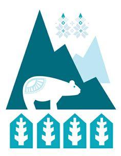 Heart the Polar Bear Art Print