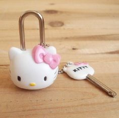 Hello Kitty Mini diary lock small Padlock Drawer Handles Locks for Backpack Handbag Suitcase Drawer Travel Luggage Lock Padlock Sanrio Hello Kitty, Hello Kitty Cartoon, Hello Kitty Themes, Hello Kitty Stuff, Hello Kitty House, Hello Kitty Kitchen, Cute School Supplies, Office Supplies, Hello Kitty Collection