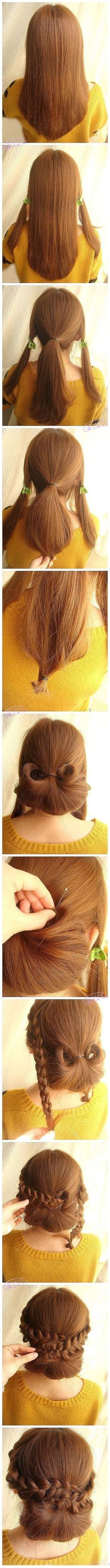 Elegant and Easy Hairstyle-Picture Tutorial