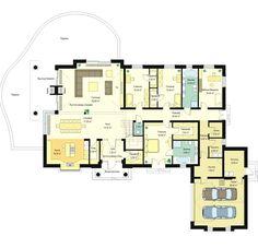 План первого этажа Villa, Floor Plans, Projects, Log Projects, Blue Prints, Fork, Villas, Floor Plan Drawing, House Floor Plans