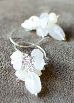 More from my shop... Etsy listing at http://www.etsy.com/listing/162249933/sterling-silver-and-natural-white moonstones