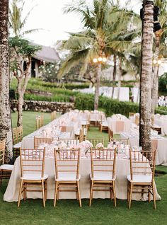 Bali Wedding, Blush and Gold Reception, Gold Chiavari Chairs, Long Tables, www.snippetandink.com