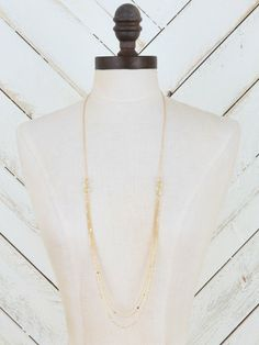 0d78a35508c Altar d State Simple Strands Gold Necklace